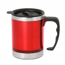 Термокружка IRIT, IRH-129, 0,45л с крышкой, нержавеющая сталь/пластик, красная