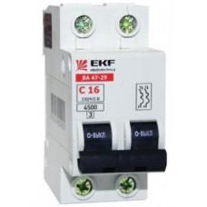 EKF Basic Автоматический выключатель ВА47-29, 2P 20А (C) 4,5кА mcb4729-2-20C