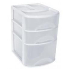 Ящик (бокс) для хранения 3 отделения (2отд.h=55мм, 1отд.h=114мм) РТ9116 Plast team