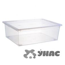 Ящик для хранения 25л Прозр 370*250*140ммМ2353