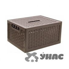 Ящик РОТАНГ с крышкой коричневый 280 5 6 М2372