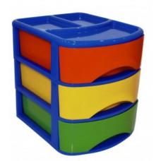 Ящик (бокс) для хранения COMBI 3 отделения РТ9118 Plast team