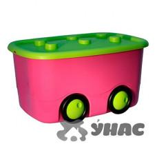 Ящик для игрушек МОБИ малиновый М 2598