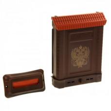 Ящик почтовый ПРЕМИУМ внутренний (с накладкой) корич. (двухглавый орел)