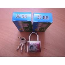 AST 30мм замок навесной, кубик, хром, арт.306