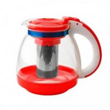 Чайник заварочный 1500мл, стекло/пластик, фильтр нержавеющая сталь, GLK-817, GELBERK