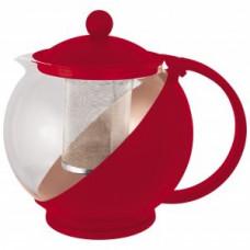 Чайник заварочный 500мл, стекло/пластик, фильтр нерж сталь, цвета микс Variato-500ML, 910101 Mallony