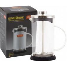 Чайник/кофейник (кофе-пресс) Nero-600ML, 0,6л, стекло/пластик, черный Mallony 950066