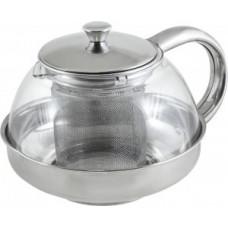 Чайник заварочный 600мл, стекло/нержавеющая сталь, фильтр нерж сталь, Menta-600, 910110 Mallony