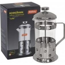 Чайник/кофейник (френч-пресс) 350мл, Caffe, нерж сталь/стекло, B535-350ML 950145 Mallony