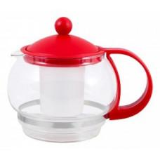 Чайник заварочный 880мл, стекло/пластик, фильтр пластик, цвета микс, Variato-880ML, 910104 Mallony